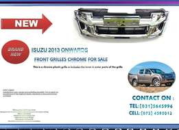 Isuzu 2013 ONWARDS New Front chrome Grilles for sale price:R995
