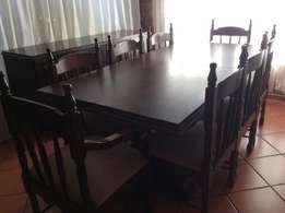 8 seater imbuja dining room set with sideboard