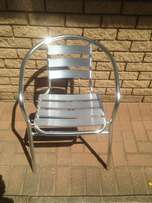 Aluminum chair for sale.