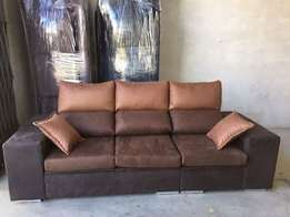 Helena box sofa couch in any colour material at 400,000/-On order only