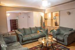 Large, fully furnished, 3 bedroom apartment on Riara Close near Junct
