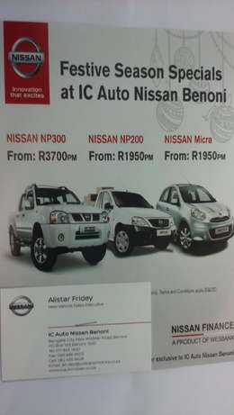 Nissan NP200. pay R1950 pm for your brand new nissan np 200 T&C apply# Benoni - image 1