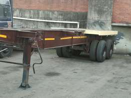 12M double axle skeleton trailer