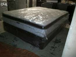 New Double Size Eurotop Base and Mattress Set