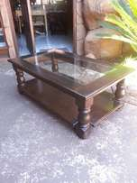Big Coffee Table with Glass Top (1200x710x450)