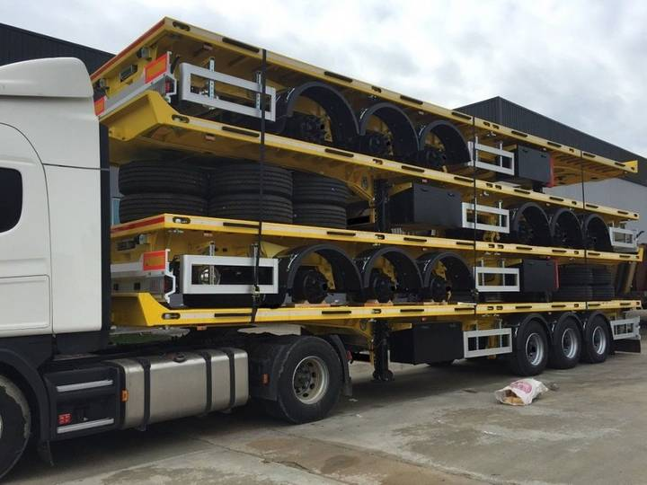 STACK 4 FLAT TRAILERS
