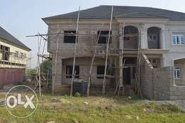 A 4-Bedroom Semi -Detached Duplex with Twin Self-Contain Bq {Carcass}