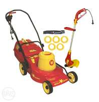 Wolfman lawnmower and trimmer