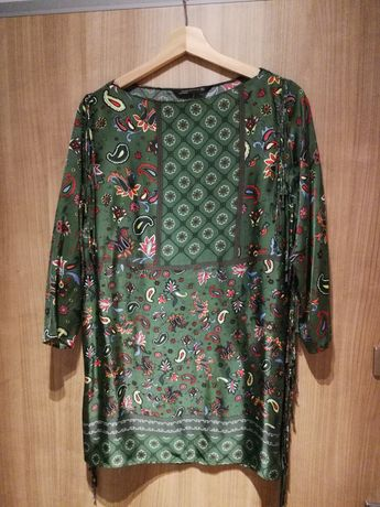 6e098f06ce Bluzka damska Tunika Boho Etno Zara Woman rozmiar S Zielona Jak Nowa Gdańsk  - image 1
