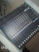 12 channel mixer, serve has studio, stage and church mixer