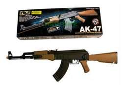 YIKA AK-47+ Spring Black Guard rifle with LED light &Red laser