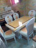 Executive marble dining table set
