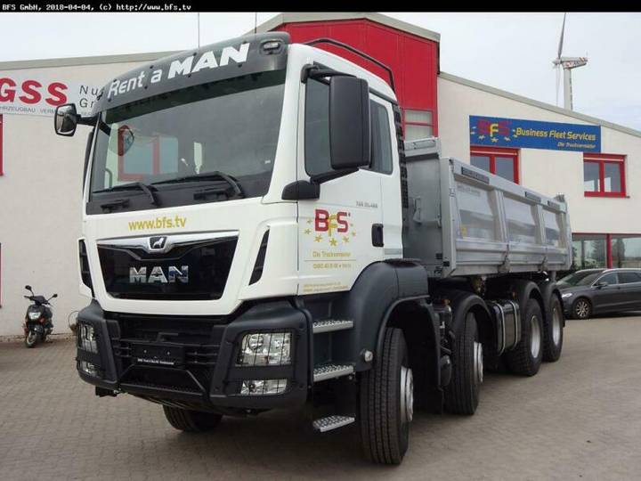 MAN TGS 35.460 8x4 BB Bordmatik links, 3-Seiten Kipp - 2018