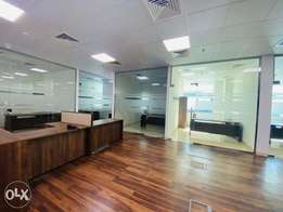 300 sqm Partition office space Airport road Rent 21,000 QR only