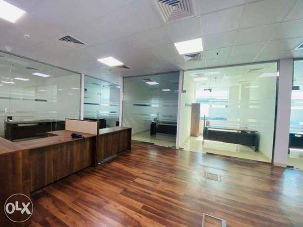 300 sqm Partition office space Airport road Rent 21,000 QR only المطار القديم -  1