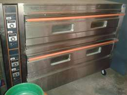 3 phase industrial double oven