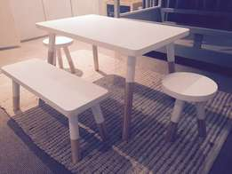 Dipped kiddies table and chairs