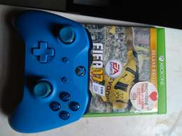FIFA 17 + Xbox one S controller (Blue)