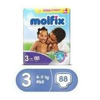 Molfix Diapers, Size 3, Giga Economy Pack (88 Count)