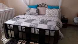 6*6 bed and mattress up for grabs at 22,000