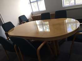 Conference Table and Server for Sale - Solid Oak