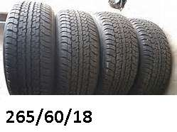 265/60/18 TYRES X 4 Dunlop at22 excellent R3000 take all alberton. . c
