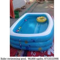 Baby swimming cool