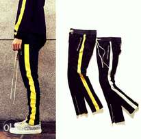 Side stripped streetwear sweatpants