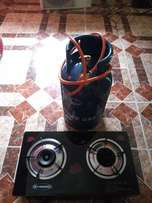 New gas cooker and cylinder