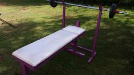 Gym bench press set