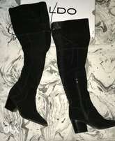 Genuine suede ALDO thigh-high boots (UK8)