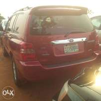 Locally Used (few month) Toyota Highlander, 2003//04