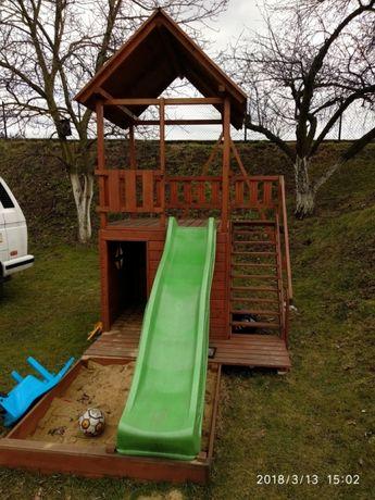 Poważnie PROJEKT plac zabaw zjeżdżalnia domek dla dzieci huśtawka DP24