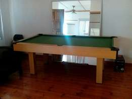 Wooden pool table