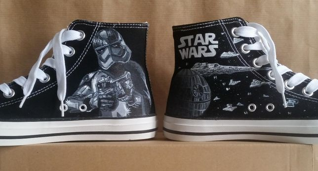 Inspired by Star Wars Converse for the Groom | Star wars