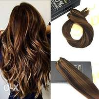 "1 Bundle 14"" Weft Brazilian Remy Human Hair Multi Color Darkest Brown"