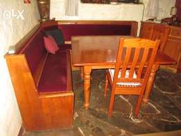 Genuine Oregon square Dining Room suite & 4 chairs