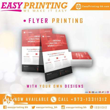 Flyers Printing - With Free Delivery Service!