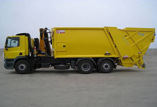 AUTOGUNOIERA cu brat macara garbage truck
