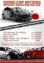 Panelbeating, Mechanical works ,used spares and used cars
