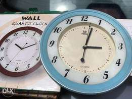 Seiko Wall Clock Red and Pearl Wall Clock Baby Blue