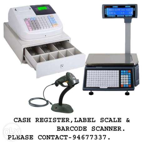 Cash register with Bar code label scale(Vat ready)