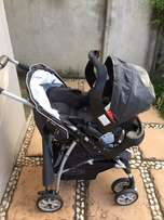 graco baby pram with car seat