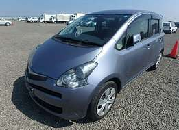 Toyota ractis year 2010 blue and black available1500cc