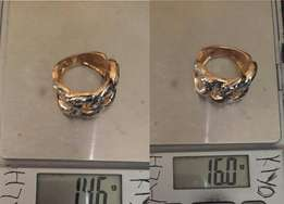 Pure solid 18karat ring gold for