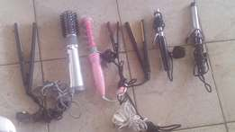 Personal/travel hair blowdryers,tongs and flat irons.