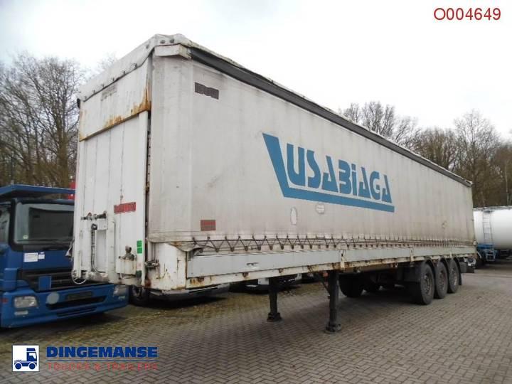 Montenegro 3-axle curtain side trailer + side boards / 36000KG - 2000