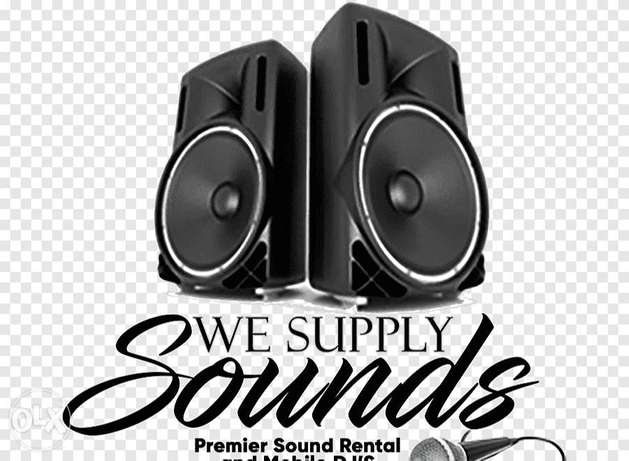 Daily weekly monthly rental service sound systems
