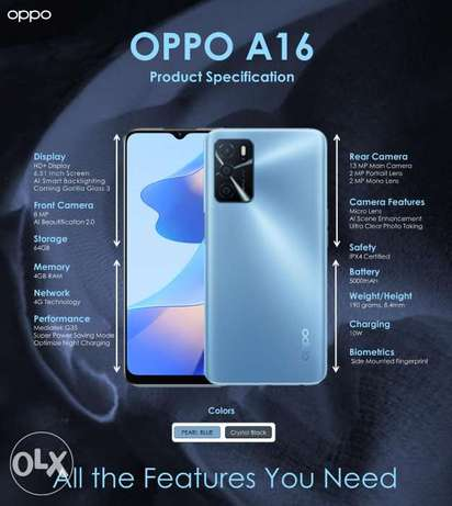 New Arrival OPPO A16