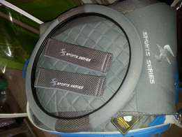 Grey simple Cloth covers with steering.